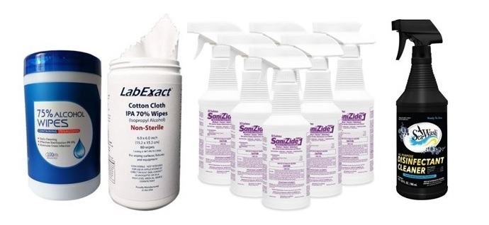 Surface Disinfectant Sprays & Wipes