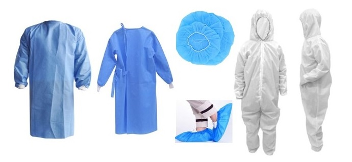PPE - Disposable Gowns, Head & Shoe Covers