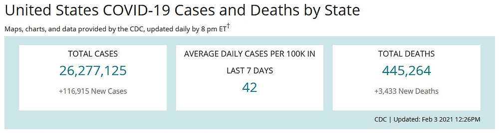 US COVID-19 Cases & Deaths Statistics by the CDC_NCide.US