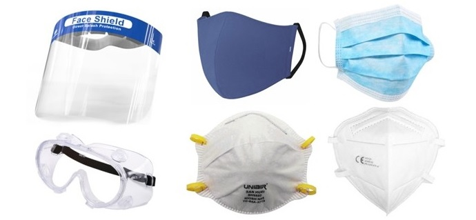 PPE - Face Shields, Masks, Goggles