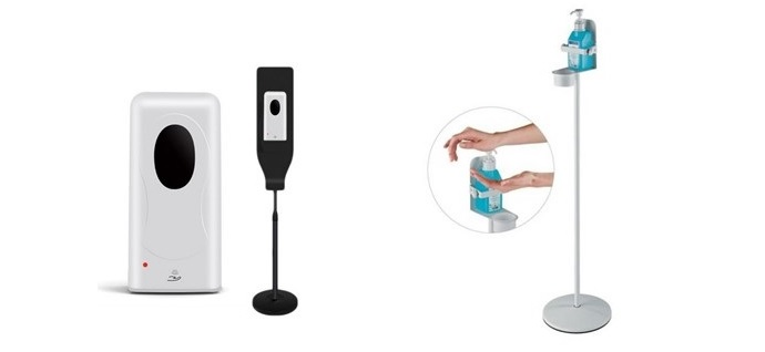 Hand Sanitizer Dispensers with Stands