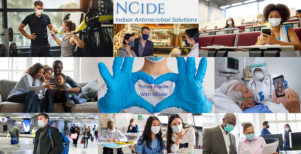NCide Indoor COVID-19 & Antimicrobial Solutions to help American Businesses & Families Thrive Inside with NCide banner