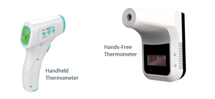 Infrared thermometers-handheld and hands