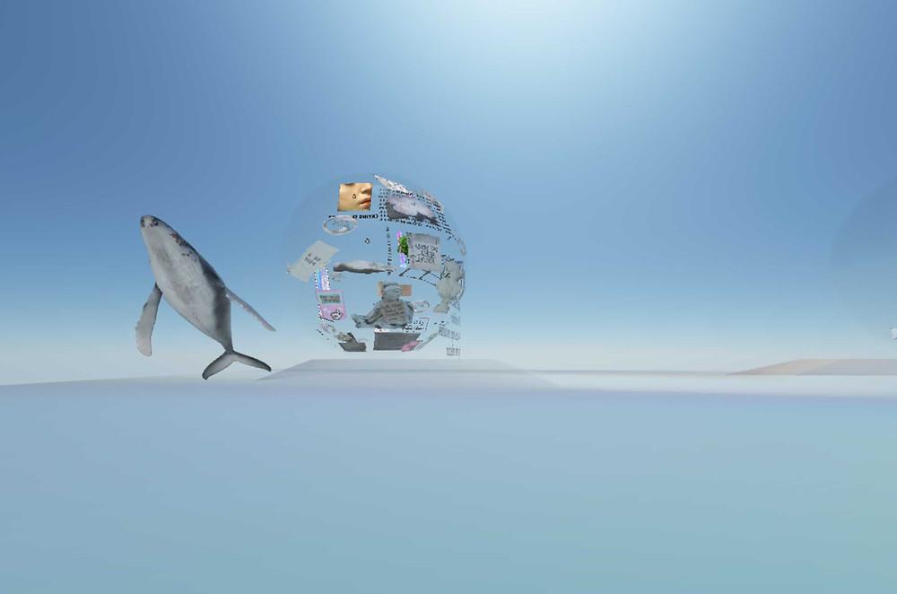 Muestra Virtual producida por Luz Viajera, entorno programado por Arteknov