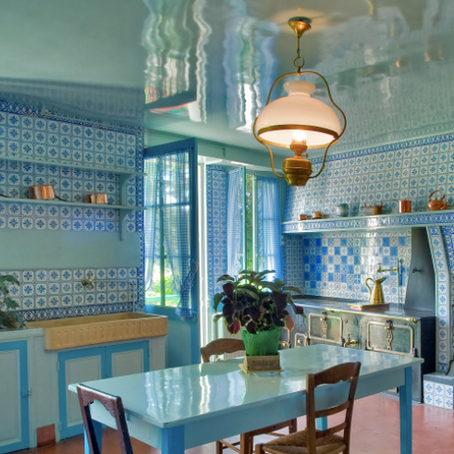 Finding Color Inspiration in Claude Monet's Kitchen and Dining Room