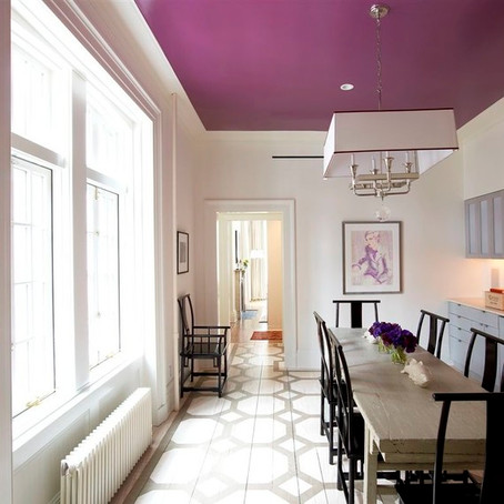 Paint a ceiling for creative (or bold) impact!