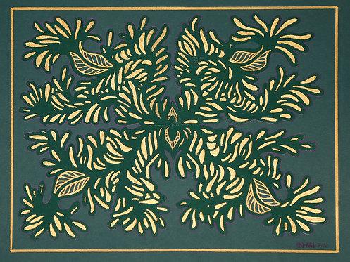 Full Gold Teal Green
