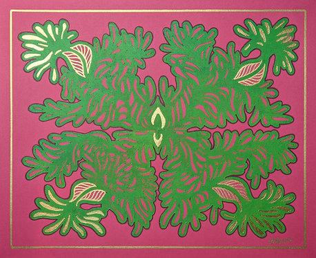 Part Gold Pink Green IV