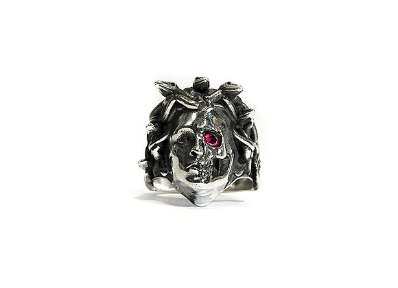 Medusa X Ring with Stone