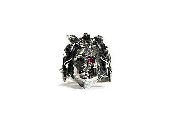 Anello Medusa con pietra