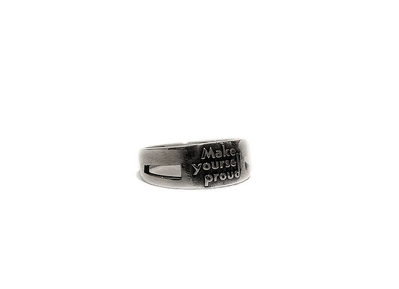 Ring with Proud Writing