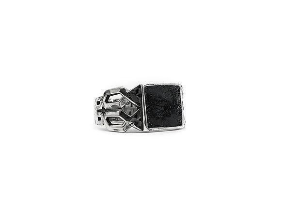Braided Ring with Glebanite Stone