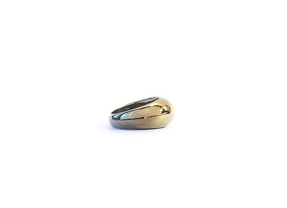 Domed Ring Plated in Yellow Gold