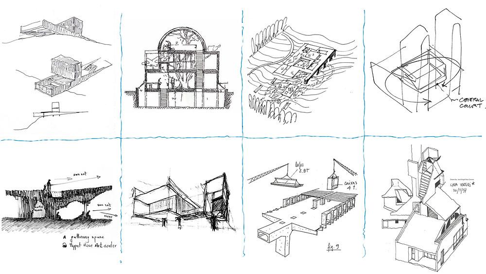 Cróquis arquitectónicos