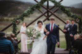 Mountain wedding at Devils Thumb Ranch