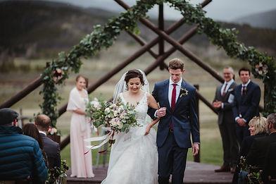 Mountain wedding at Devils Thumb Ranch