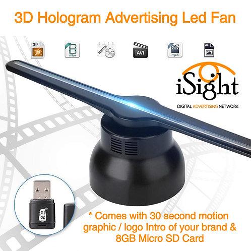 3D Hologram Advertising Led Fan Display