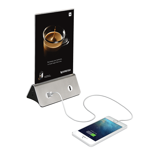 A5 Menu Holder with USB Charger