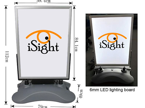 Outdoor A Board LED Poster Display - Rechargeable