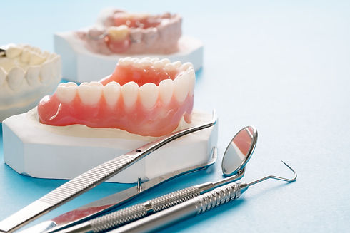 Close up , Complete denture or full dent