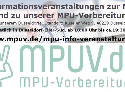 Informationsveranstaltungen zur MPU undzu unserer MPU-Vorbereitung