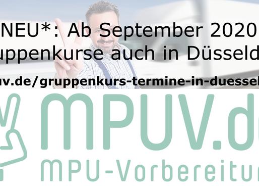 NEU*: Ab September 2020 Gruppenkurse auch in Düsseldorf!