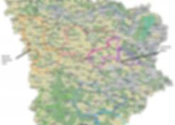 Carte des boucles équestres