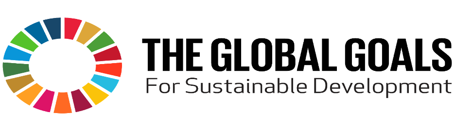 "Logo for ""The Global Goals For Sustainable Development"" To the left is a circle with various colored sections."