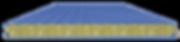 Стеновая сэндвич панель облицовка трапециевидная 50х50