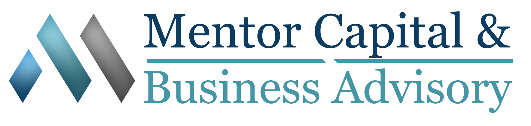 Mentor Capital logo- white copy