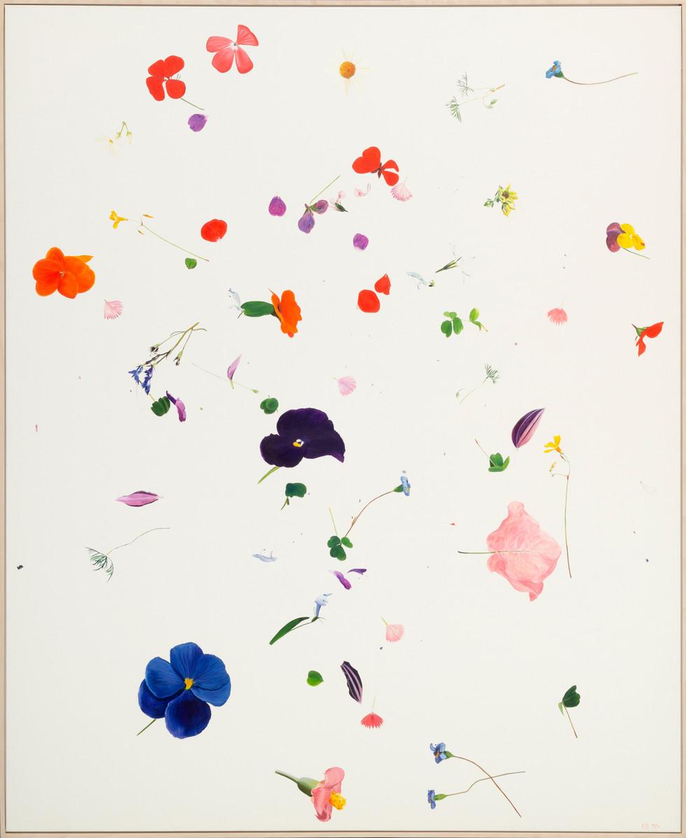 KIRSTEN BEETS. Flowerfall, 2020. Oil on linen. 1680 x 1370mm. Framed.jpg