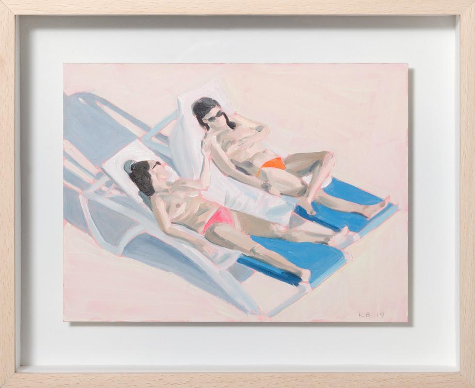 KIRSTEN BEETS. Neon and Nips, 2019. Oil on paper. 220 x 270mm. Framed.JPG
