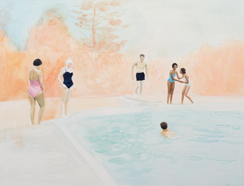 KIRSTEN BEETS. Heartbreak Summer, 2019. Oil on linen. 665 x 865mm. Framed.JPG