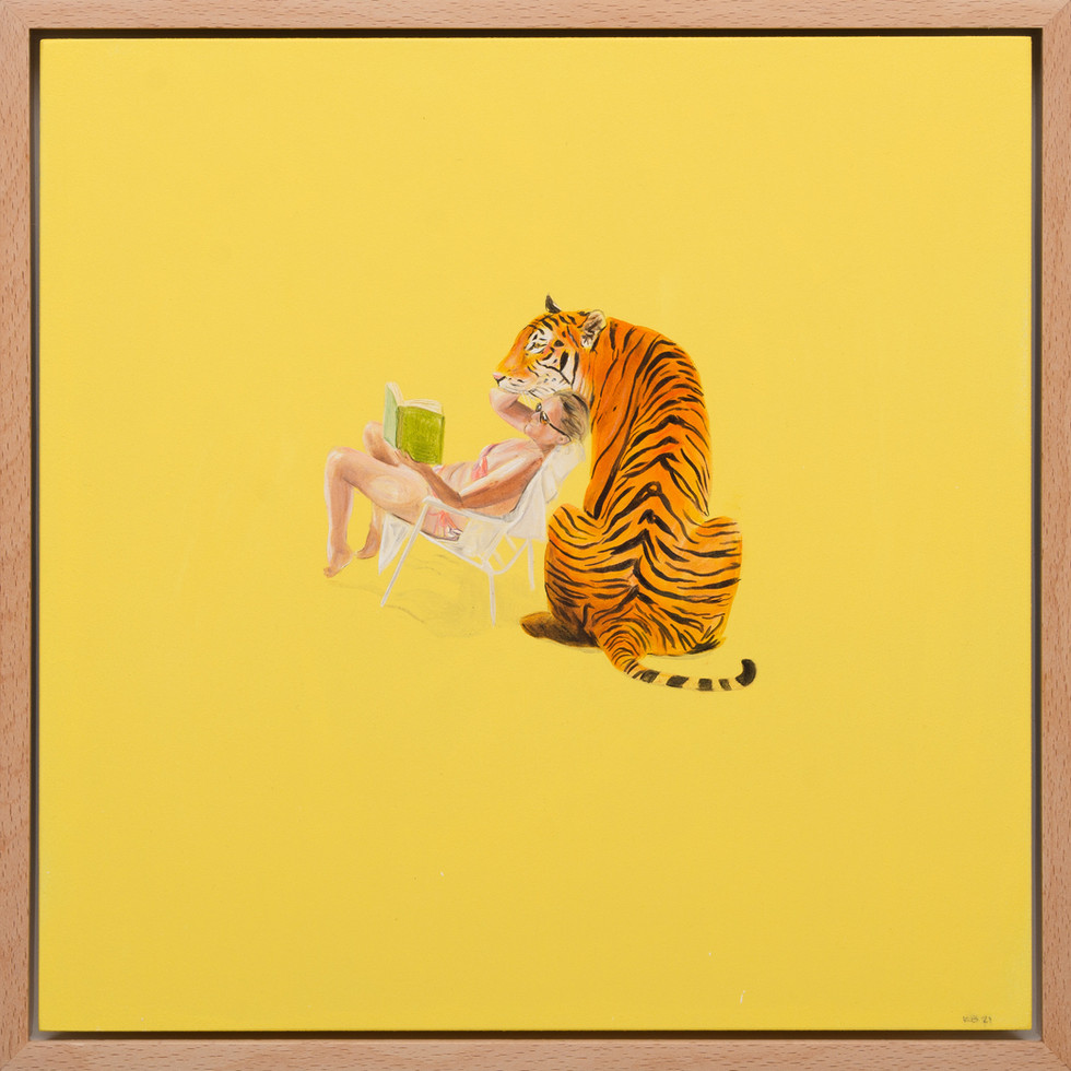 KIRSTEN+BEETS.+Beach+Book+Club,+2021.+Oil+paint+on+wood+board.+325+x+325mm.+Framed.jpg