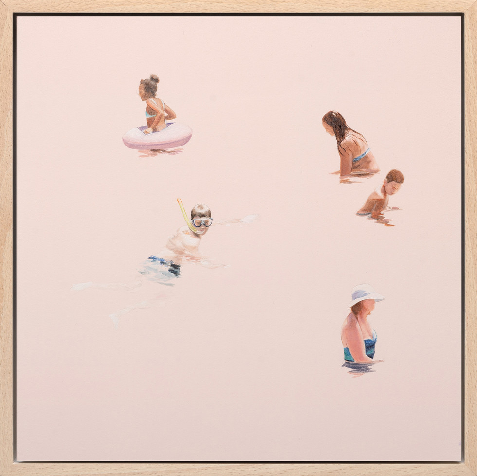KIRSTEN BEETS. Pinks and Peaches, 2020. Oil on board. 325 x 325 mm. Framed.jpg