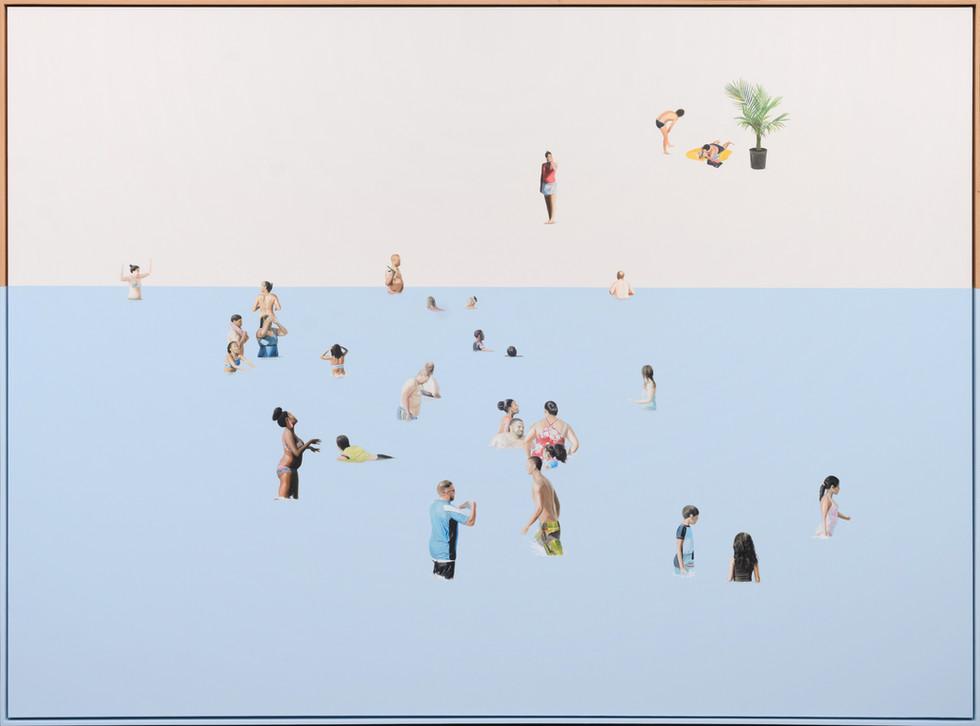 KIRSTEN BEETS. The Longest Summer, 2020. Oil on canvas. 1430 x 1930mm. Framed.JPG
