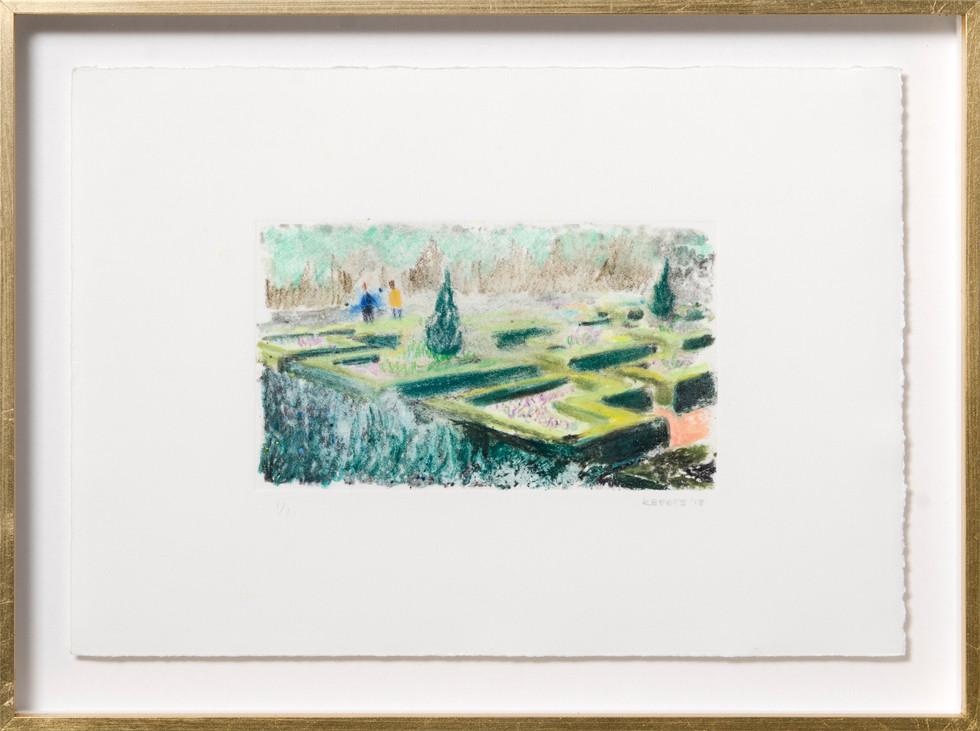 KIRSTEN BEETS. Botanical, 2018. Watercolour monotype. 235 x 315mm. Framed.JPG