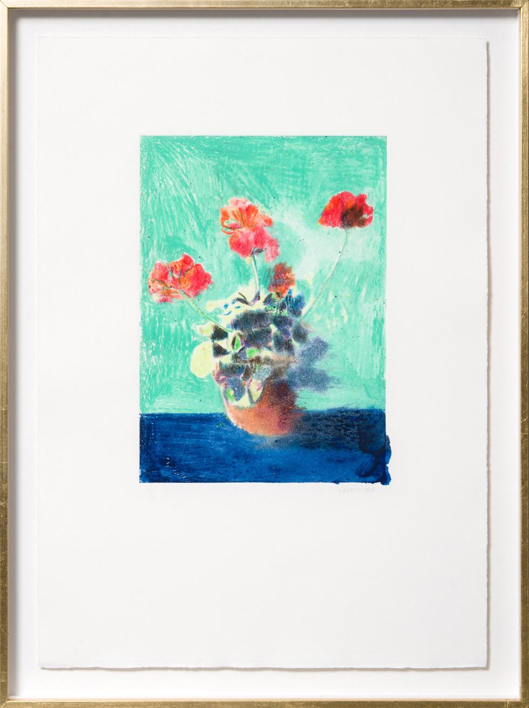 KIRSTEN BEETS. Vermilion, 2018. Watercolour monotype. 420 x 315mm. Framed.JPG