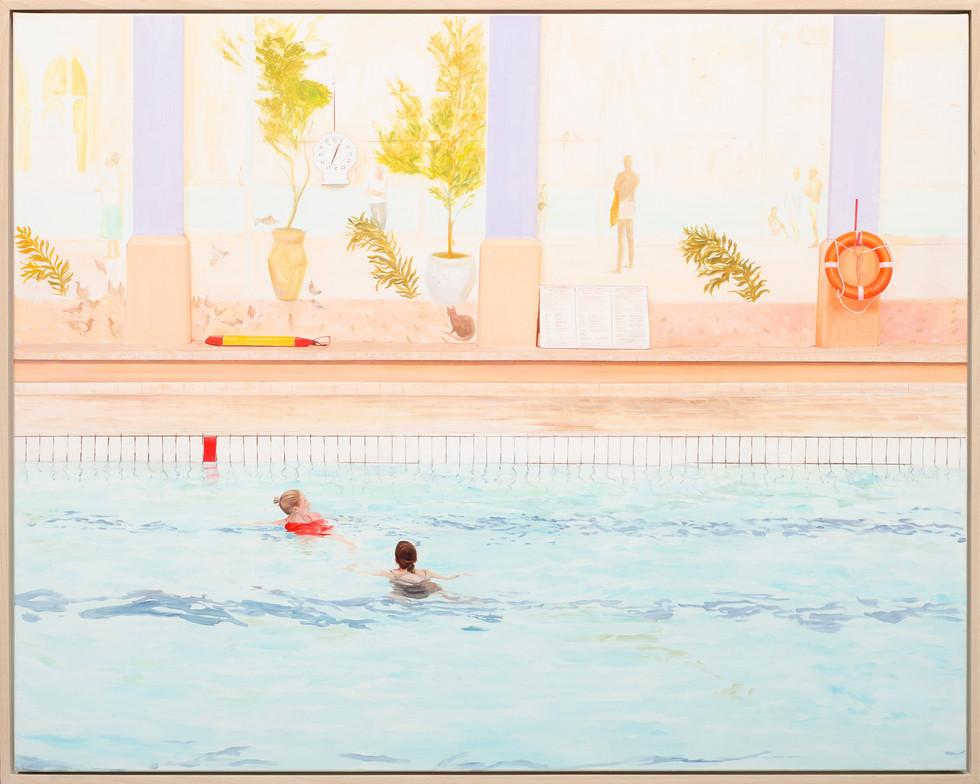 KIRSTEN BEETS. It's Always Summer Somewhere, 2020. Oil on linen. 975 x 845mm. Framed.jpg