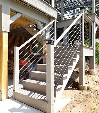 Custom Rail for Outdoor Deck