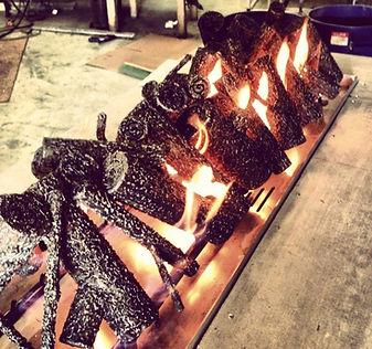 Custom Metal Fire Logs