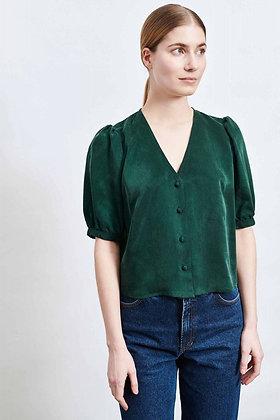 Bluse Pina in dunkelgrün von Elementy