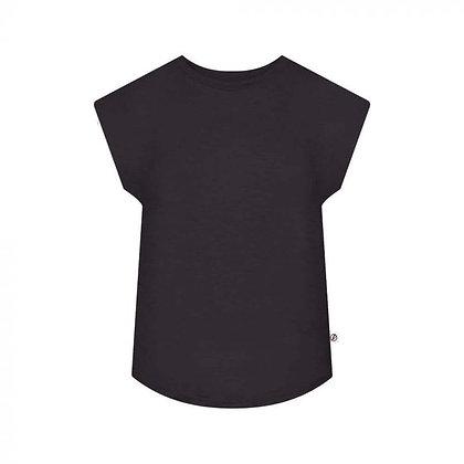 T-Shirt Lyocell Damen Schwarz von Bleed
