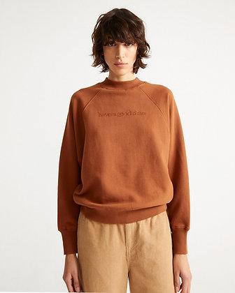 Sweatshirt Good Time in clay red von Thinking Mu