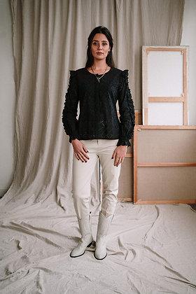Krishna blouse in schwarz von J-Label