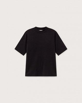 Basic Mock Shirt schwarz von Thinking MU