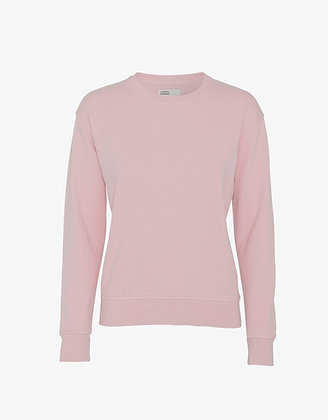 Classic Organic Sweatshirt in Faded Pink von Colorful Stand