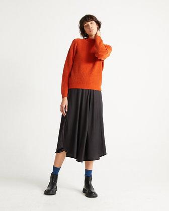 Strickpullover Hera in orange von Thinking Mu