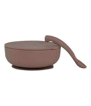 Bowl mit Deckel & Löffel vintage von Lille Vilde