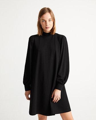 Flora Dress in schwarz von Thinking Mu